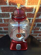 1940's Silver King Nut Candy Gum Machine Penny Vending Coin-op