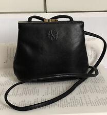 Anne Klien For Oroton Leather Shoulder Bag Cross Body Bag Black