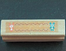 Small Mini Baby Birth Bear Announcement Border Rubber Stamp