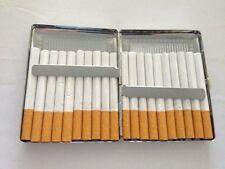 Cigarette Case 100's Regular Size Slim Storage Holder 20 Cigaret Pocket Wallet