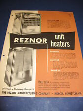 1940's REZNOR Gas Heaters Catalog Asbestos History ITT Mercer Penn