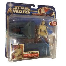 Star Wars Ataque De Los Clones Obi-wan FORCE los bancos ATAQUE FIGURA DE ACCIÓN
