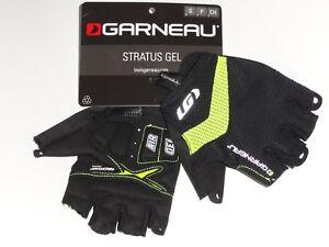 NEW! Louis Garneau Stratus Gel Men's Cycling Gloves 5D81148 Black/High Vis Small