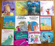 Lot 12 CINDERELLA Picture Book Traditional Multicultural Fractured Fairy Tale L2