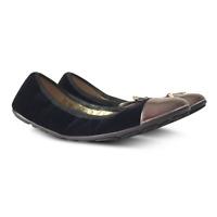 NEW $491 JIMMY CHOO Wallach Velvet Ballet Flats - Black - Size 36
