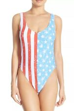 NEW Bikini Lab American Flag Swimsuit SOLD OUT AT NORDSTROM! SZ L