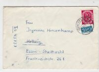 Germany 1953 Opladen Cancel Obligatory Tax Aid for Berlin Stamps Cover Ref 28098