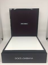 Dolce & Gabbana D&G MEDIUM DISPLAY UNIT Black PLASTIC MATERIAL WHITE PLEXIGLASS