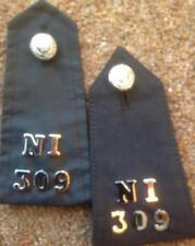 Early Queens Crown Metropolitan POLICE Epaulettes with Division and numbers
