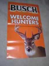 """24"""" x 40"""" Busch Welcome Hunters Beer Banner Deer Orange Rifle"""
