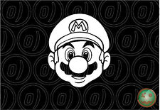 MARIO KART Decal Sticker Nintendo 137mm High Wii Console Car Van Laptop.