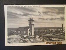 "OLD POST CARD ""GASPORT MEETINGHOUSE"" STAR ISLAND, N.H.  POSTMARKED  1951 EXC CD"