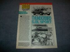 1988 Ford Thunderbird 5.0L Sport Vintage Road Test Info Article