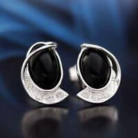 Onyx Silber 925 Ohrringe Damen Schmuck Sterlingsilber S0314