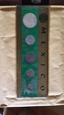 Mexico 6 Coin Uncirculated Souvenir Set Cent through 1967 Silver Peso   LOOK
