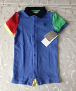 Ralph Lauren Baby Boy's 100% Cotton Polo Shirt Romper (9 Months)