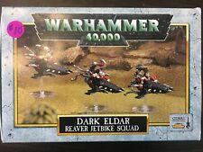 Warhammer 40K Classic Dark Eldar Reaver Jetbike Squad complete