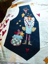 Alma Lynn Folk Art Angel vest panel-one size-fronts attach to  shirt
