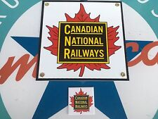 CANADIAN NATIONAL RAILWAYS PORCELAIN coated 18 GAUGE STEEL sign INCLUDES magnet