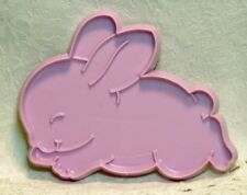 Hallmark Vintage Plastic Cookie Cutter - Sleepy Bunny Rabbit Easter Baby Shower