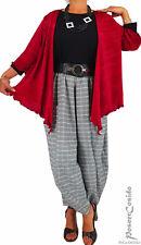 LAGENLOOK Tunika Shirt Überwurf Bolero rot L-XL-XXL-XXXL 44 46 48 50 52 54 56 58