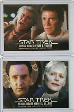 2011 Star Trek Classic Movies Heroes & Villains Promo Card Lot of 2 P1 + P4