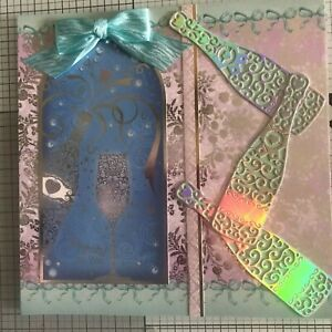 EX LARGE ANNIVERSARY OR CONGRATS CARD, HANDMADE 3D OR SILVER/GOLD EMBOSSED