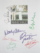 Annie Hall Signed Script X7 Woody Allen Diane Keaton Roberts Walken Kane reprint