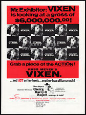 Russ Meyer's VIXEN__Original 1969 Trade AD movie promo / poster__ERICA GAVIN