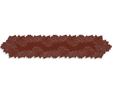 "Heritage Lace DARK PAPRIKA LEAF 14"" x 68"" Table Runner  Fall, Thanksgiving"