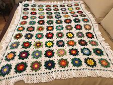 Handmade Afghan / Throw Blanket - From Designer Collection - Wildflower Garden