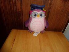 RARE DISNEY JUNIOR DOC MCSTUFFINS PROFESSOR HOOTSBURGH OWL PLUSH DOLL FIGURE TOY