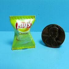 Dollhouse Miniature Replica Bag of Lays Classic Potato Chips  G065