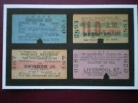 POSTCARD RAILWAY TICKETS - NAMED TRAINS