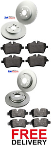 FOR MINI R56 ONE COOPER 1.6 D (2006-2013) FRONT & REAR BRAKE DISCS & PADS SET