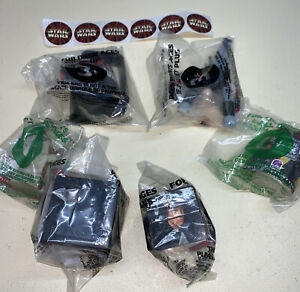 SET OF 6 STAR WARS TOYS FROM TACO BELL PLUS STAR WARS STICKERS