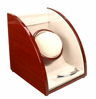 Axis Curved Cherry Finish Wooden Single Watch Winder