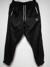 PUMA Windrunner Pants Nylon black leg spellout Mens M street wear jogging Kappa