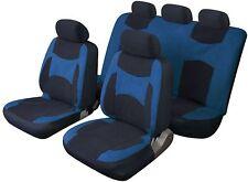 LAGUNA SECA UNIVERSAL FULL SET SEAT PROTECTOR COVERS BLUE & BLACK FOR RENAULT