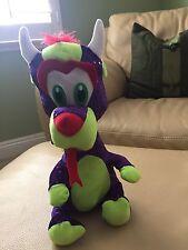 Purple Glitter Dragon Stuffed Animal - NWOT