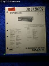 Sony Service Manual XR C420RDS Car Stereo  (#3571)