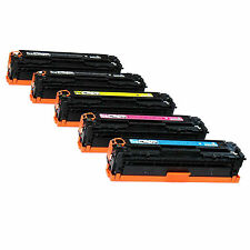 5pk CE320A CE321A CE322A CE323A Toner Fits HP LaserJet Pro CM1415fnw CP1525NW