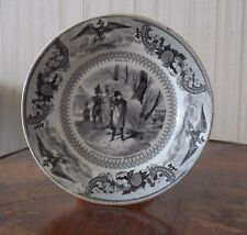 French PORCELAIN from GIEN - Plate : NAPOLEON 1st at the Battle of Craonne
