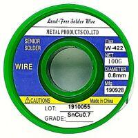 "Tin Solder Wire .031""/0.8mm Lead Free Rosin Core Soldering Sn99.3 Cu0.7 3.5oz"