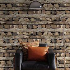 Fleece Wallpaper Rasch 931808 Wood Bar Beige Brown 3d Effect