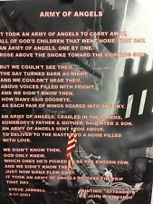 """9/11 commemorative 11x14 print with """"Army Of Angels"""" poem imprint."""