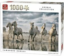 1000 Piece Animal Collection Jigsaw Puzzle - CARMARGUE WILD RUNNING HORSES 05385