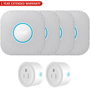 Google Nest Protect Smoke/Carbon Monoxide Alarm - Battery (4-Pack) w/ Warranty B