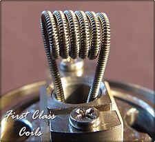 15 - Clapton 24ga A1 x 32ga A1 .5ohm coils for RDA RBA RTA First Class Coil