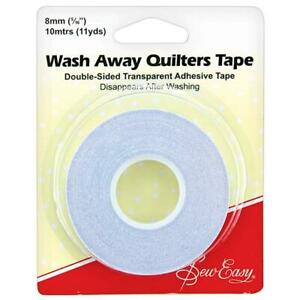 Sew Easy Wash Away Quilters Tape - Double Sided Adhesive 8mm wide x 10M